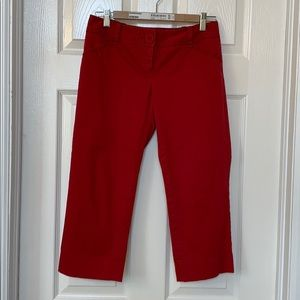 The Limited Red Capris. Size 4
